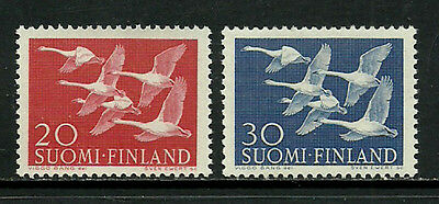 Finland #343-4 Mint Never Hinged Set - Whooper Swans