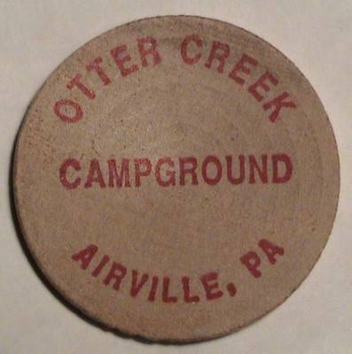 Otter Creek Campground: Airville, Pa: Classic Indian Head Wooden Nickel Token