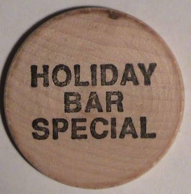 Holiday Bar Special: Classic Indian Head Front ~ Wooden Nickel / Token / Tuit