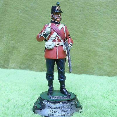 Collectable Vintage Metal Soldier - Royal Marines  Light Infantry 1868 Signed