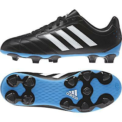 adidas Goletto V Boy's Firm Ground FG Football Boots Moulded Studs Black & White