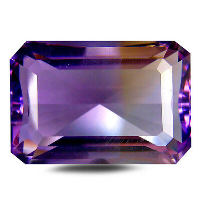 13.03 ct AAA Incomparable Octagon Shape (17 x 12 mm) Purple and Yellow Ametrine