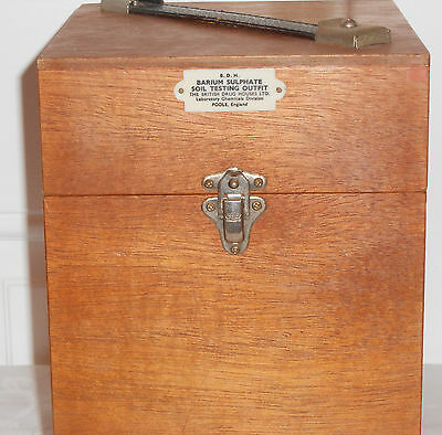 Vintage Barium Sulphate Soil Testing Outfit In Wooden Case