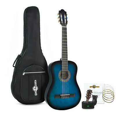 Deluxe Junior Classical Guitar Pack Blue by Gear4music