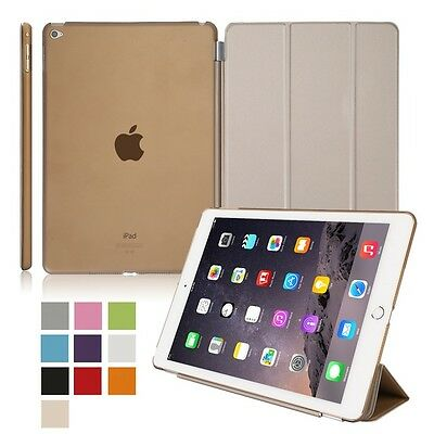 Gold Protector Leather Smart Magnetic Stand Cover Case for Apple iPad 6 Air 2