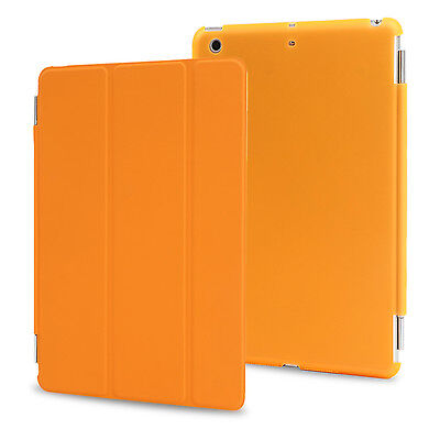 Orange Ultra Slim Magnetic Flip Leather Smart Cover Case for Apple iPad Mini