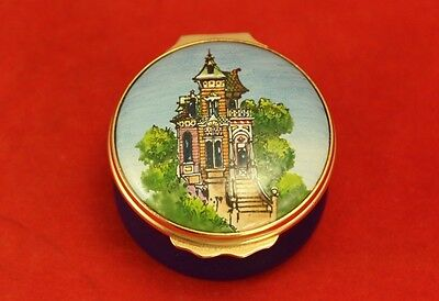 "Halcyon Days for GUMPS 1¾"" Trinket Box SAN FRANCISCO VICTORIAN"