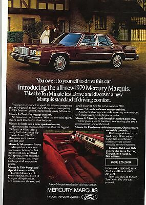 Original 1979 Mercury Marquis  Magazine Ad - You Owe It to Yourself...