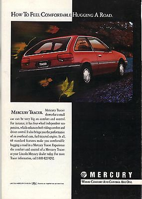 Original 1989 Mercury Tracer Magazine Ad - How to Feel Comfortable...
