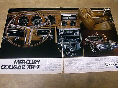 Original 1971 Mercury Cougar XR-7 Two Page Magazine Ad