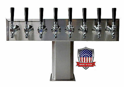 Stainless Steel Draft Beer Tower Made in USA -8 Faucets - AIR COOLED TTB-8SS-OP