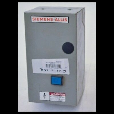 Siemens Allis SXLA145 9A Enclosed Starter With CXLAO3 Contactor CXLA03 CXLA0*3