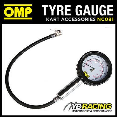 Nc081 Omp Race Karting Analogue Tyre Pressure Gauge For 1.0 Class Go-Kart Tyres