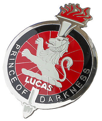 """Joseph Lucas """"Prince of darkness car"""" grille badge"""