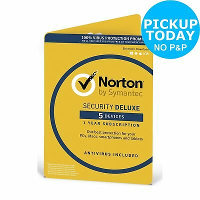 Symantec Norton Antivirus/Internet Security - 1 User/5 Devices -From Argos ebay