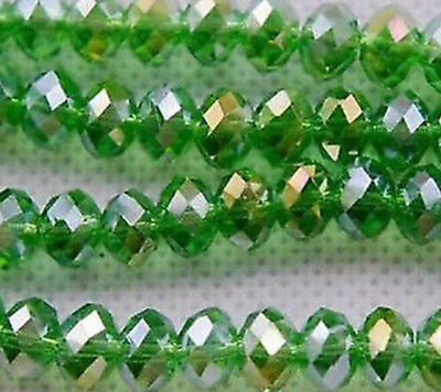 Wholesale 70pcs Green colors Jewelry Faceted Crystal beads 6x8mm