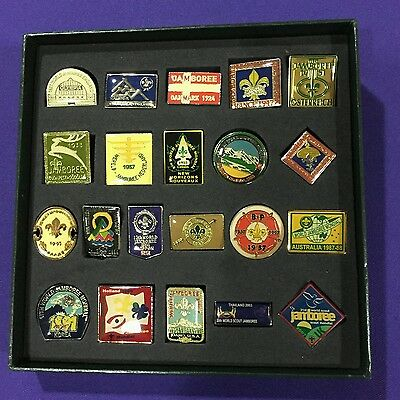1920-2007 Boy Scouts World Jamboree metal pin badge collection