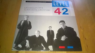 """LEVEL 42 """"Lessons in Love"""" UK 12"""" Limited Edition Extended Version POSPA 790"""