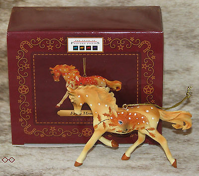"""TRAIL OF PAINTED PONIES Fawn Memories Ornament in Giftbox ~ 3.2"""" Tall ~ Resin ~"""