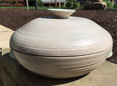 Early Vivika & Otto Heino Huge Stoneware Covered Vessel Signed Dated 1951
