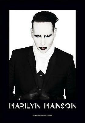 "Marilyn Manson Flagge / Fahne ""proper"" Posterflagge Poster Flag"