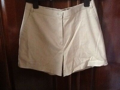 """Vintage M & S Beige Shorts Size 10 But may Fit 8 Waist 25"""""""