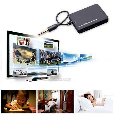 Wireless Bluetooth A2DP Stereo 3.5mm Audio Adapter Transmitter Dongle for TV PK