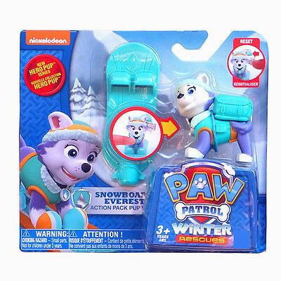 1PCS PAW PATROL Action Deformation Toy Snowboard Everest Brand New A - 1