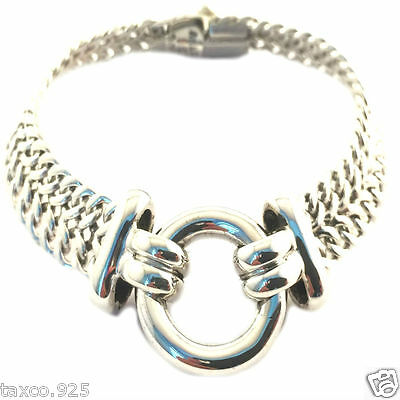 Taxco Mexican Sterling 925 Silver Elegant Lightweight Chain Bracelet Mexico