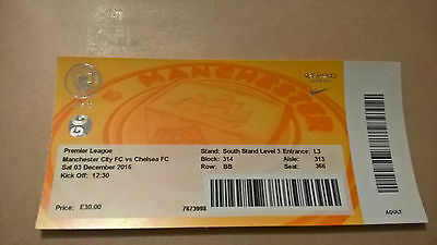 MANCHESTER CITY Vs CHELSEA - TICKET 03.12.16.
