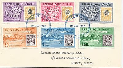 Republic Of Haiti Typed 10 Dec 1962 First Day Cover Ref 298