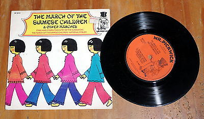 """'March of The Siamese Children and other marches' 7"""" vinyl single EP MP 9022"""