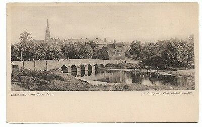 [1259] Warwickshire B/W Postcard Coleshill From Cole End
