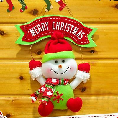 Decoration Home Party Snowman Christmas Door Christmas Tree Ornaments Hanging