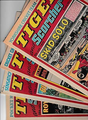 4 x TIGER AND SCORCHER FOR THE MONTH OF JULY 1975 IN GOOD CONDITION