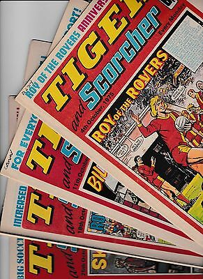 4 x TIGER AND SCORCHER FOR THE MONTH OF OCTOBER 1975 IN GOOD CONDITION