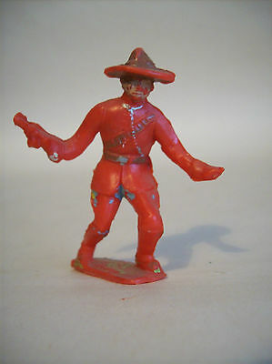 "RARE CHERILEA  TOY SOLDIERS   "" CANADIAN  MOUNTIES  "" 60 mm    c1960'S"