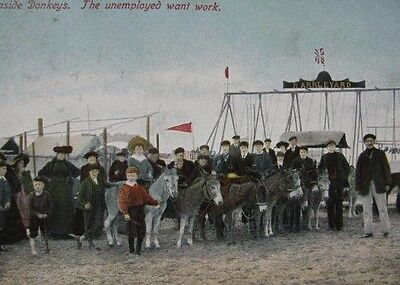 """Very Rare 1906 Postcard. """"the Unemployed Want Work"""""""