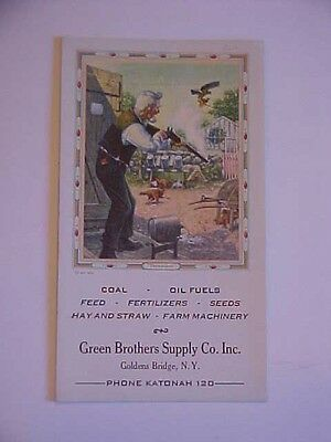 Vintage Advertising Blotter Green Brothers Supply Co. Inc.