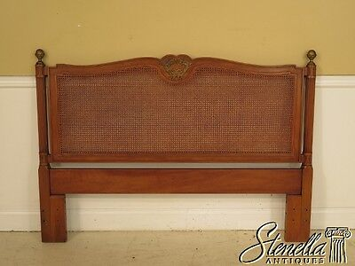 41102: HENREDON French Louis XV Queen Or Full Size Cane Back Headboard