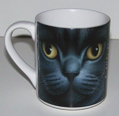 "Braldt Bralds ""BRITISH SHORT HAIR GREY"" Cat Collectible Coffee Tea Mug NEW"