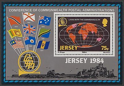 Jersey 1984  Links With The Commonwealth Miniature Sheet Sg Ms333   Mounted Mint
