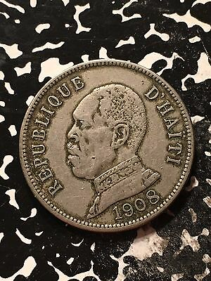 1908 Haiti 50 Centimes Lot#9668 Nice!