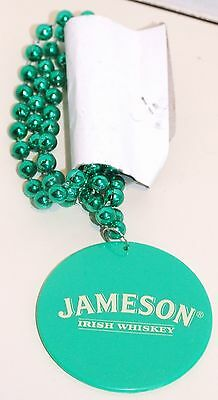 Jameson Irish Whiskey Green Disc & Green Bead Necklace