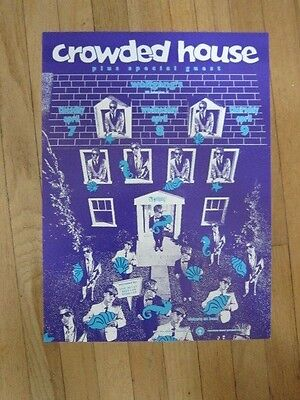 CROWDED HOUSE Wolfgang's poster 1987