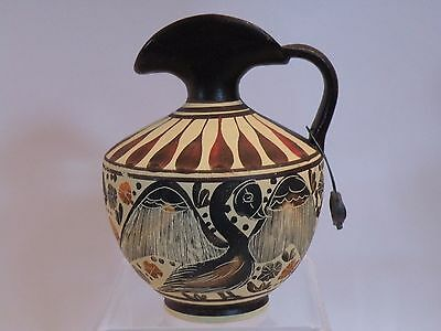 "arb23 ANCIENT GREEK MUSEUM REPRODUCTION CORINTH EWER 430 BC 4 3/8"" lion motif"