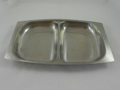Mid Century Germetco Sweden 18/8 Stainless Divided Dish
