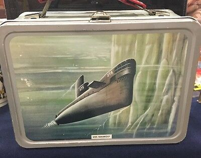 Vintage 1960's US Navy USS Seawolf submarine themed metal lunch box by Thermos