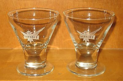 Smirnoff Cocktail Glasses Set of 2 Footed