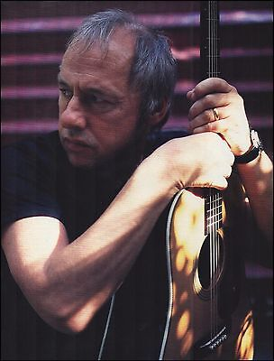 Dire Straits Mark Knopfler with his Martin acoustic guitar 8 x 11 pinup photo